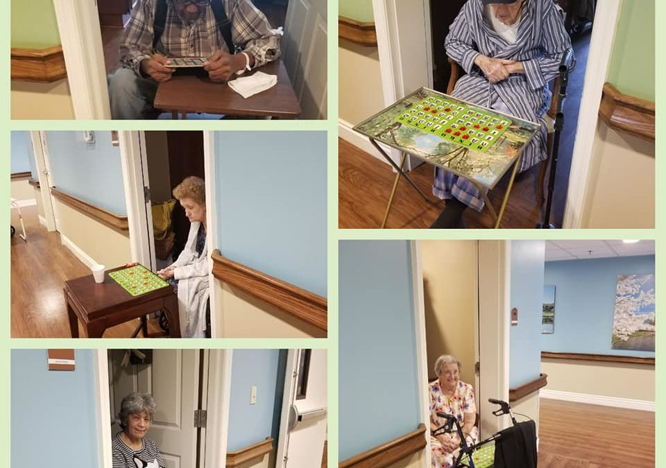 Assisted Living Residents Make the Most of Things While Social Distancing