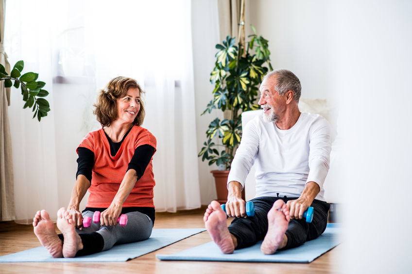 Exercising regularly is another part of active senior living and maintaining a healthy immune system.