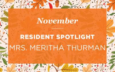 Mrs. Meritha Thurman